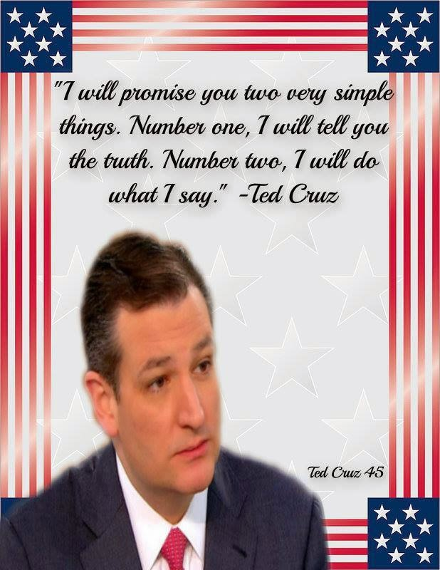 Ted Cruz's promises