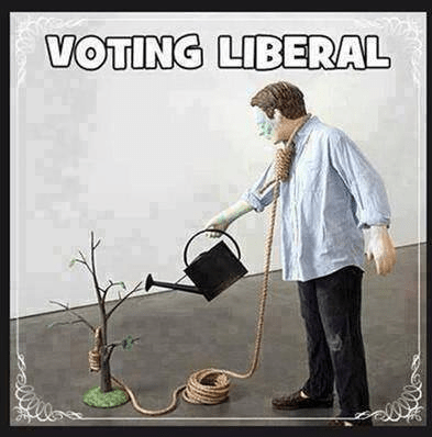 Voting liberal means creating rope to hang yourself