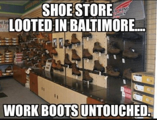 Working boots looters