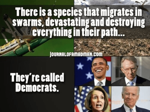 swarming destructive democrats