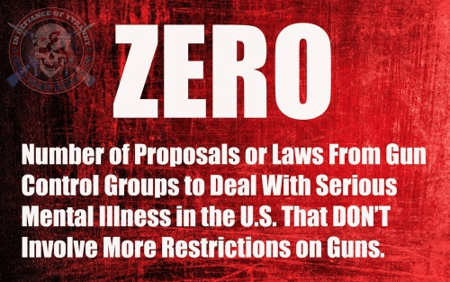 Gun control groups ignore mental illness