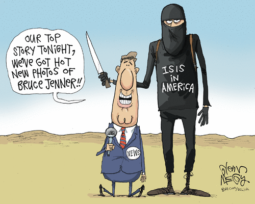 ISIS and Bruce Jenner and media
