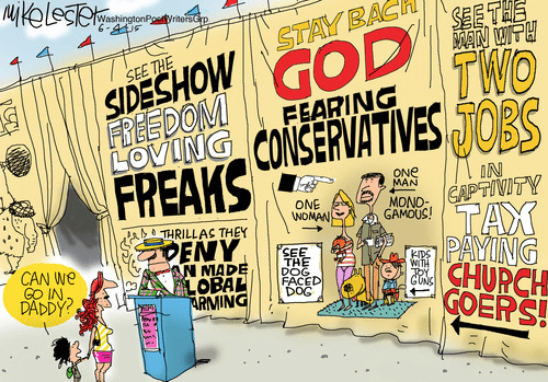 Media turns conservatives into freak show