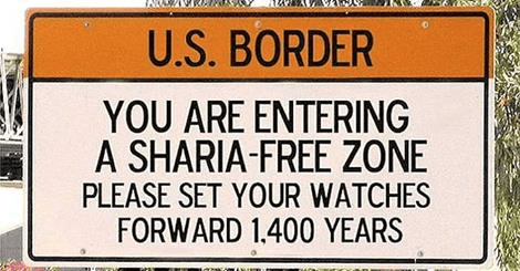 US border sharia-free zone