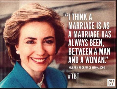 Hillary Clinton on marriage