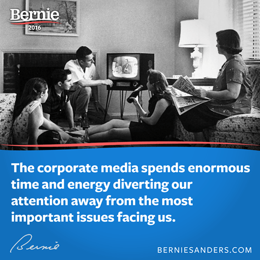 Bernie Sanders on corporate media