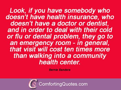 Bernie Sanders on poor people and community health care