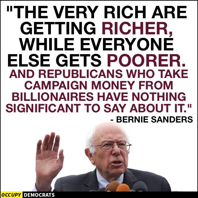 Bernie Sanders on the very rich