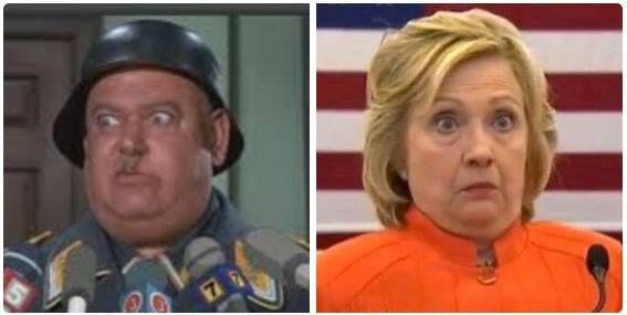 Hillary and Sergeant Schultz