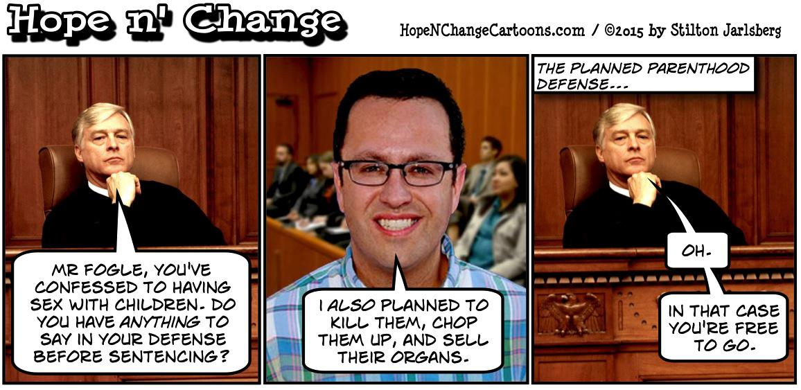 Jared Fogel and the Planned Parenthood defense