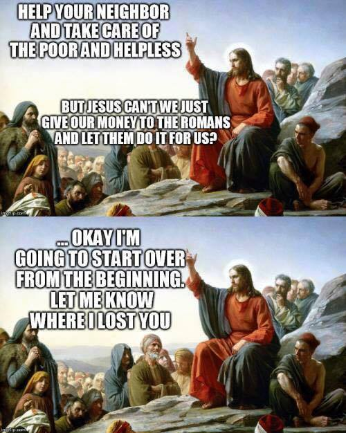 Jesus on people not government caring for poor
