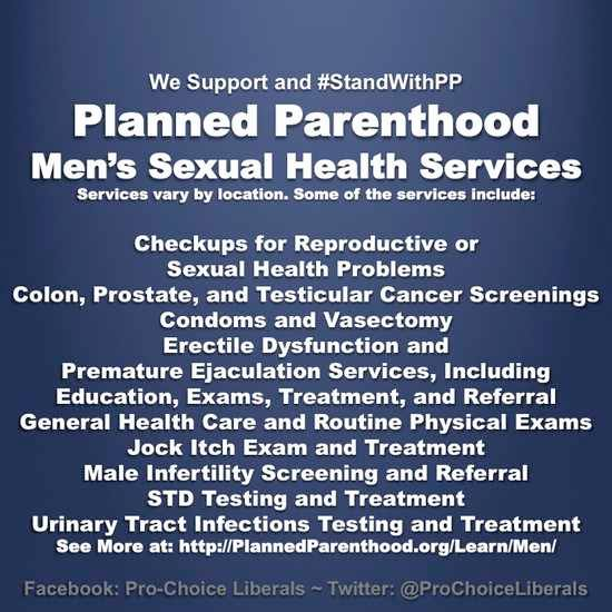 Planned Parenthood services for men