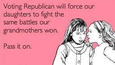 Republicans will destroy women's rights
