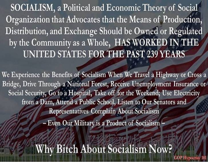 The glories of American socialism
