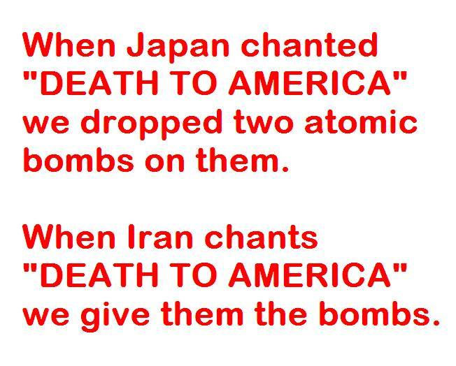 America versus Japan or Iran
