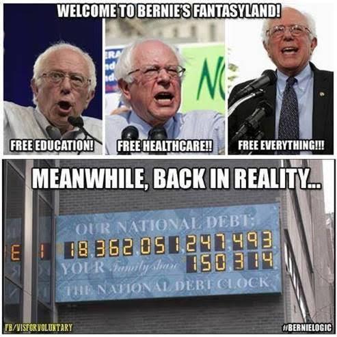 Bernie Sander's economic fantasies