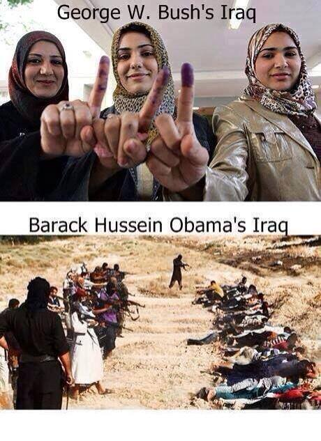 Bush and Obama Iraq