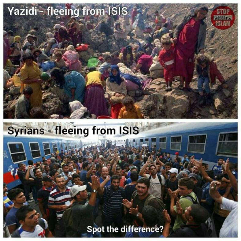 Refugees versus invaders