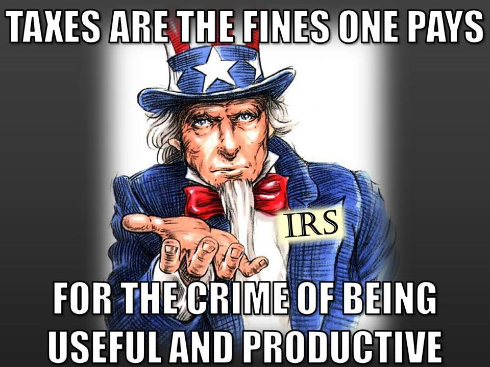 Taxes are fines for being productive