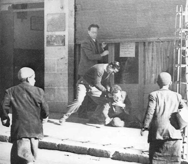 Arab stabbling Asher Lazarin Jerusalem 1947