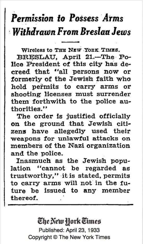 Breslau Jews disarmed