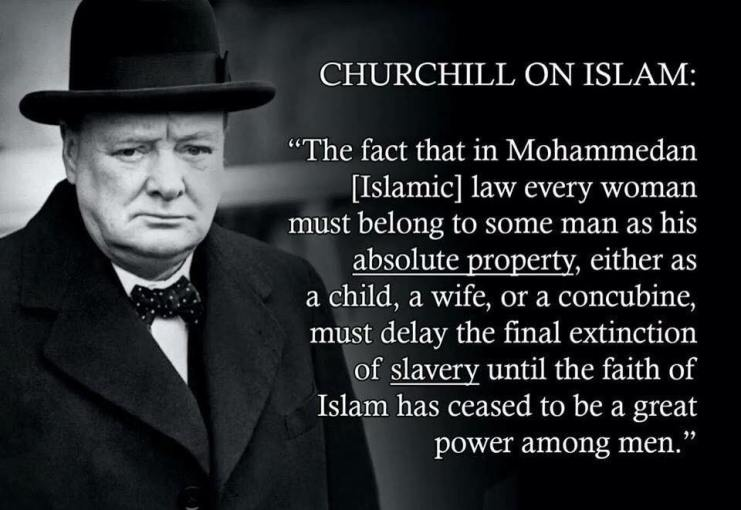 Churchill on Islam women and slavery