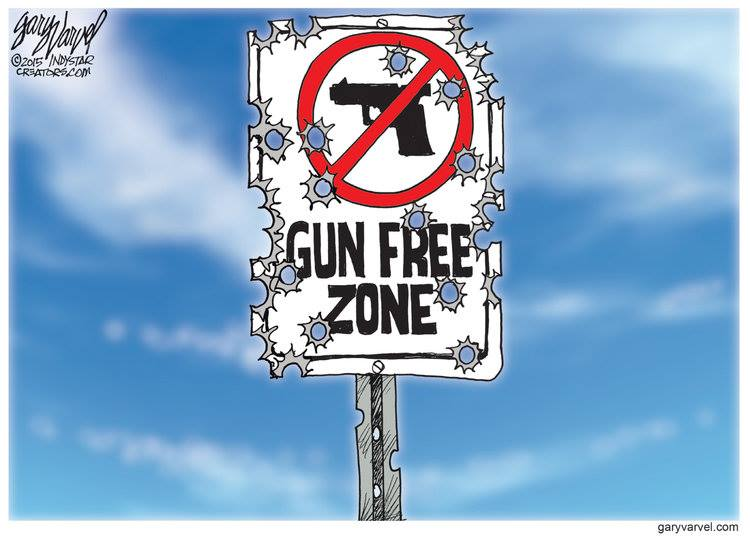 Gun free zone sign