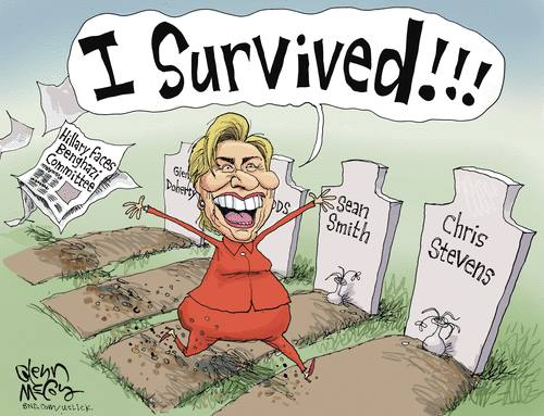 Hillary survived hearing