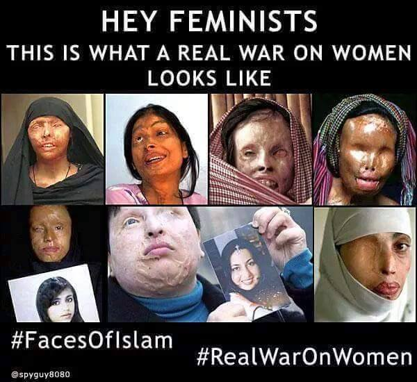 Muslim acid war on women