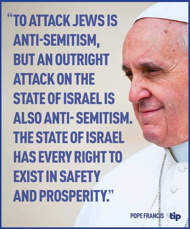 Pope on antisemitism