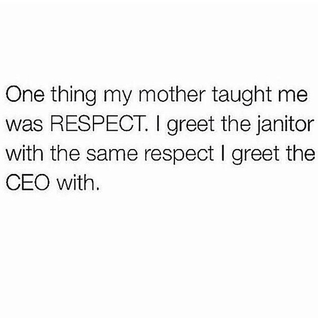 Treating people with respect