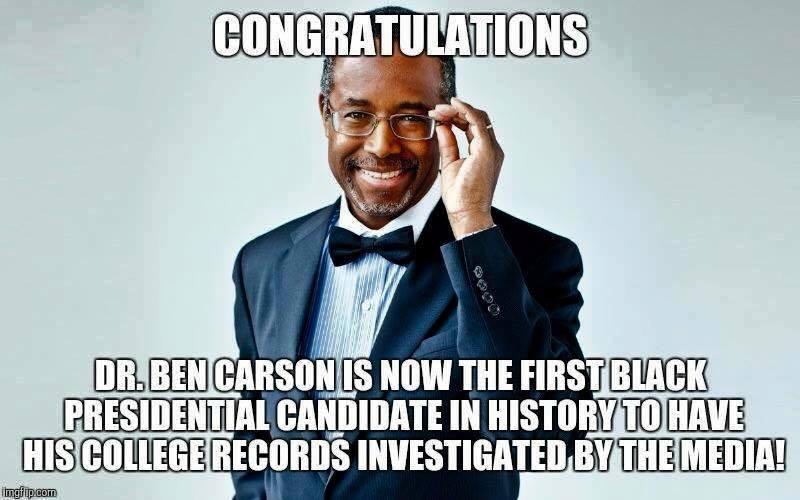 Ben Carson black man vetted