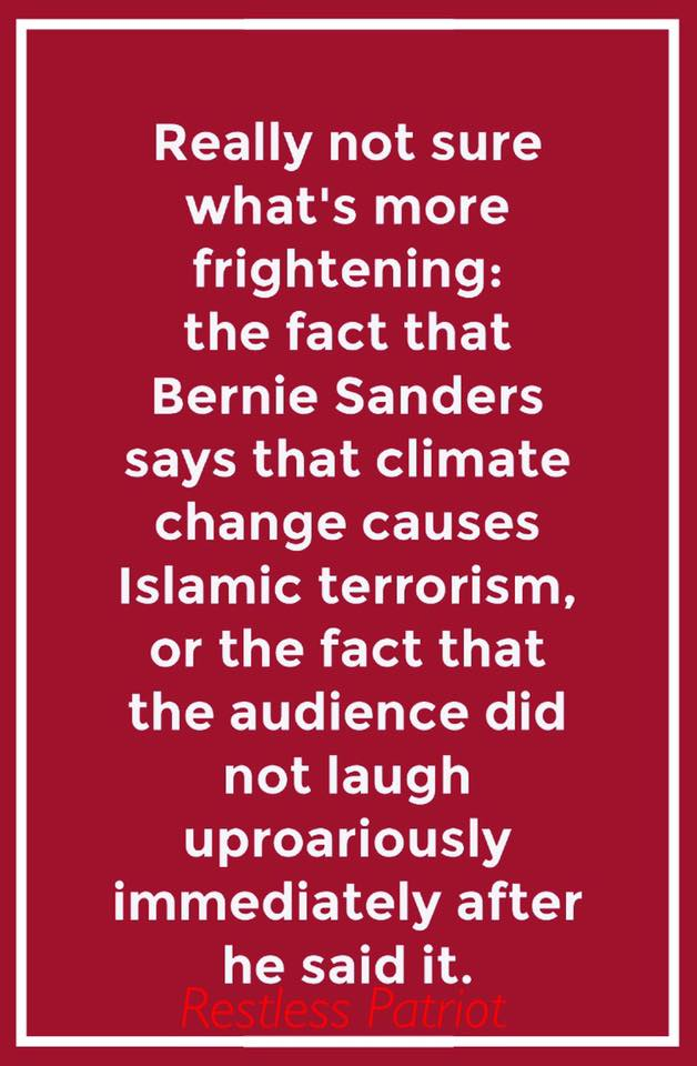 Bernie Sanders on climate change