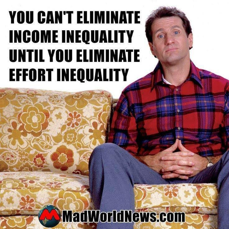 Effort and income inequality can be related