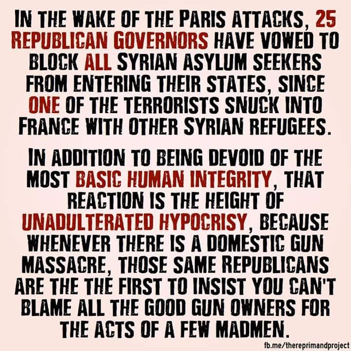 Guns versus Syrian refugees