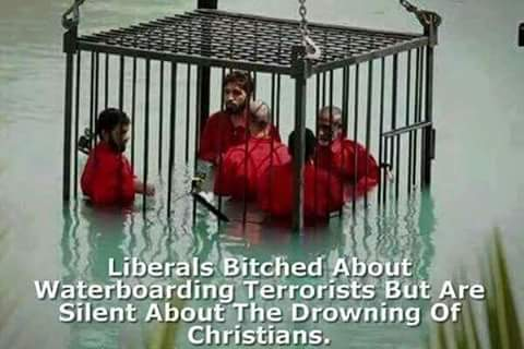 Liberals silent about drowning Christians
