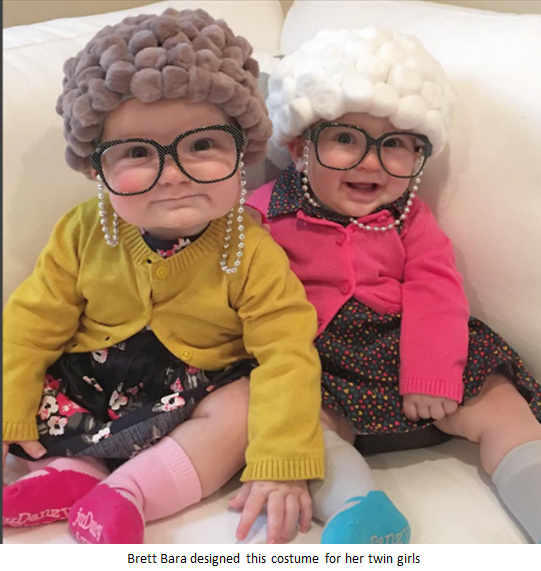 Little Old Lady twin girls