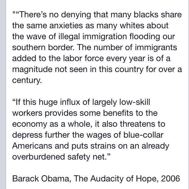 Obama on blacks and refugees 2006