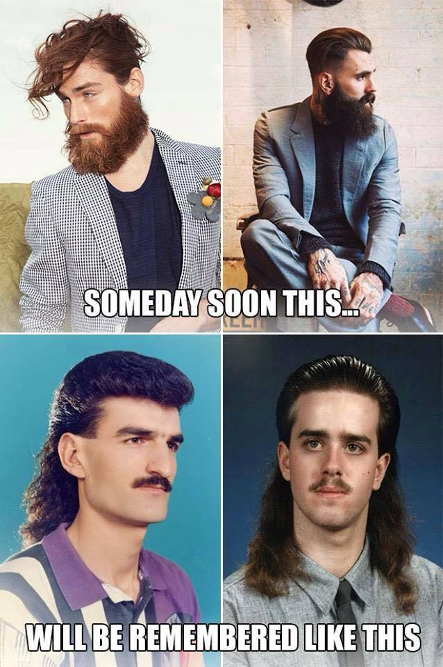 Ugly beards and mullets