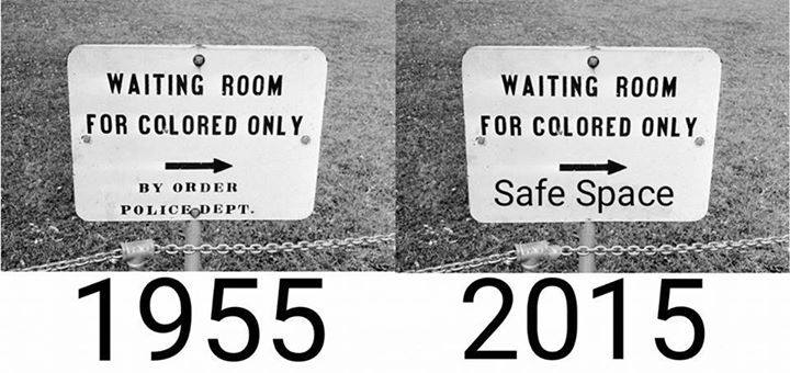 Waiting room for colored only