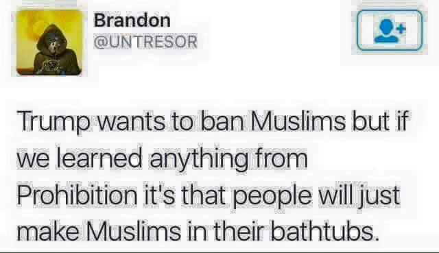 Muslims ban prohibition bathrubs