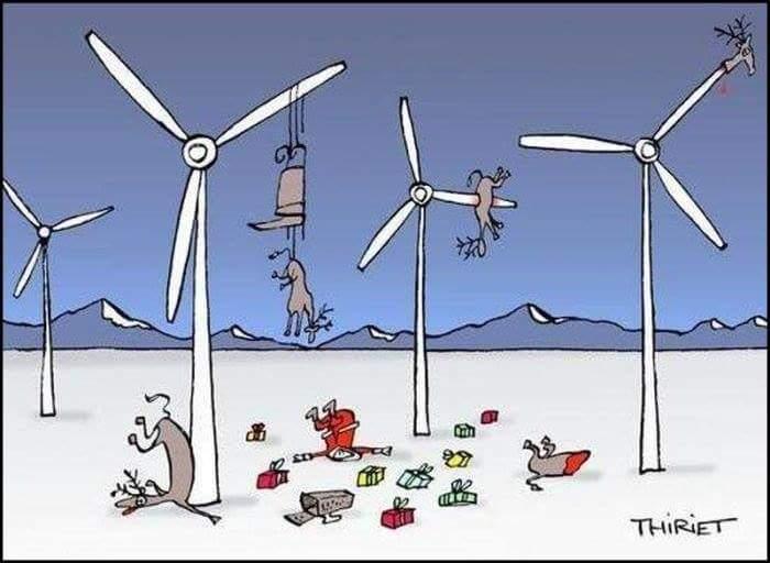 Santa's sleigh and wind power