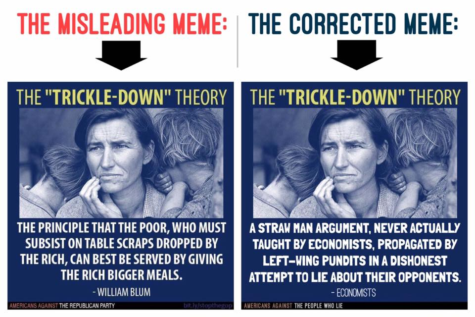 There is no trickle down theory