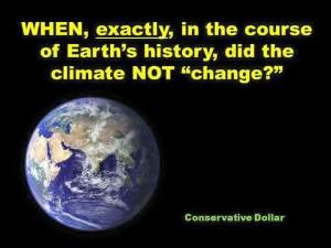 When did the earth's climate not change