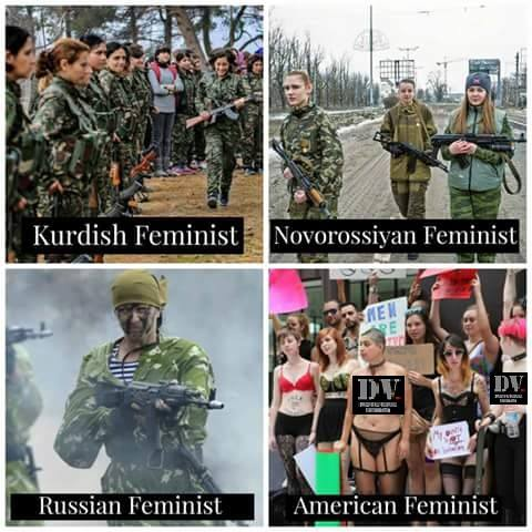 American feminists versus real feminists
