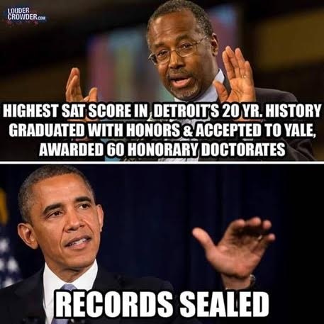 Carson brilliant Obama records sealed