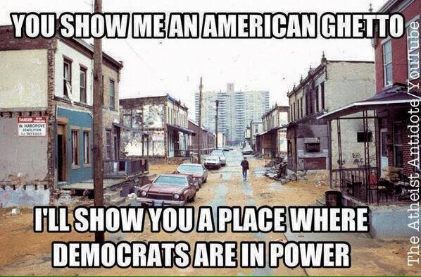 Ghettoes Democrats