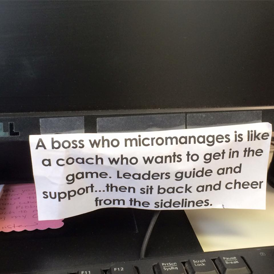 Good boss doesn't micromanage