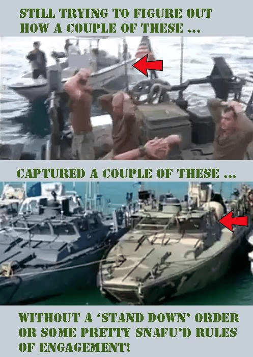 How little Iranian boats captured big Navy boats
