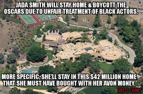 Jada Smith home and Oscar boycotts